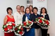 Der neue VDOE-Vorstand v.l.n.r.: Ingrid Acker, Almut Feller, Kerstin Wriedt, Janine Glasner, Dr. Maike Groeneveld, Gabi Börries, Dr. Tatjana Rosendorfer