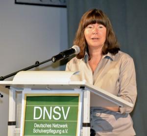 Ernährungsministerin Ulrike Höfken, Rheinland-Pfalz, auf dem 7. Deutschen Kongress Schulverpflegung in Bad Kreuznach