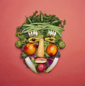 Arranged Vegetables Creating a Face