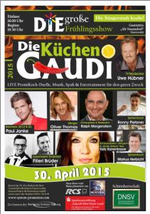 Die Sängerstadt kocht! Frühlingsshow: Die große Küchen-Gaudi am 30. April 2015