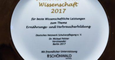 """DNSV vergibt 2018 zum zweiten Mal den Preis """"Goldener Teller Wissenschaft"""""""